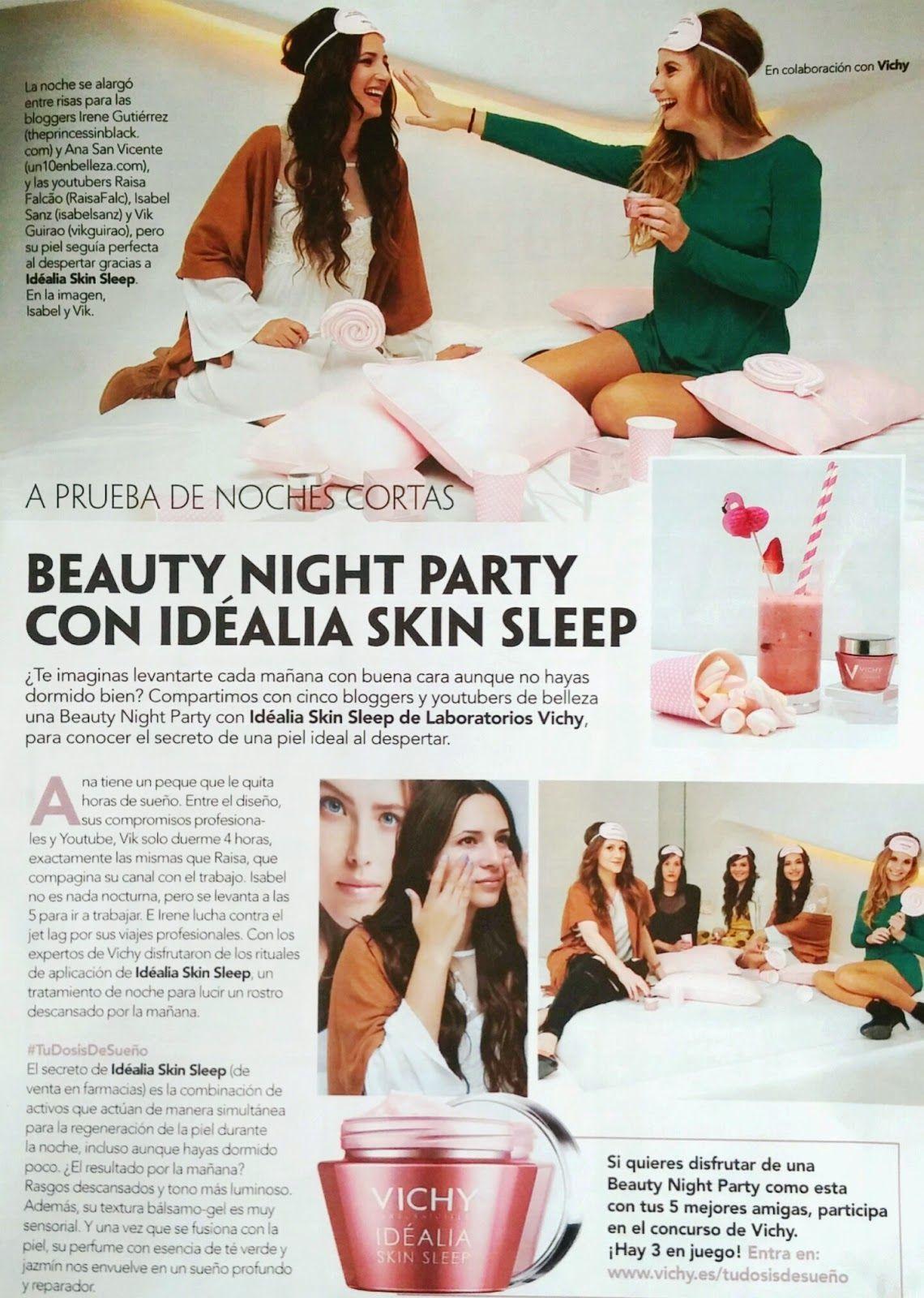 smoda, vichy, idéalia skin sleep