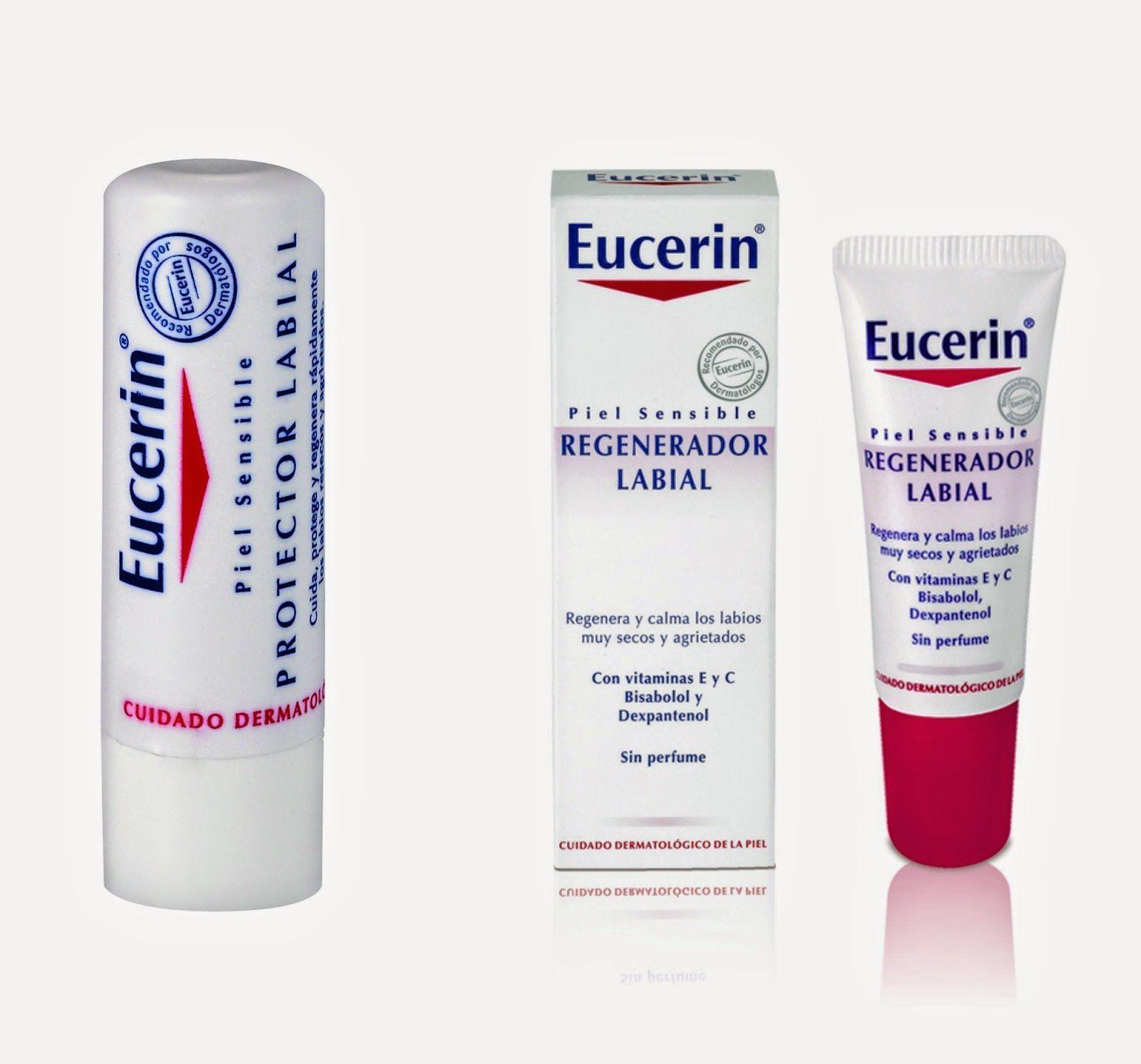 eucerin, balsamo labios, frio