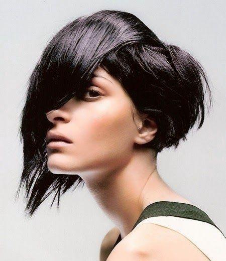 tendencias de cabello, corte bob asimétrico