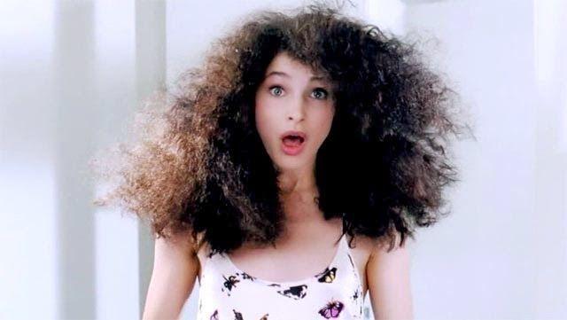 cabello encrespado, solución