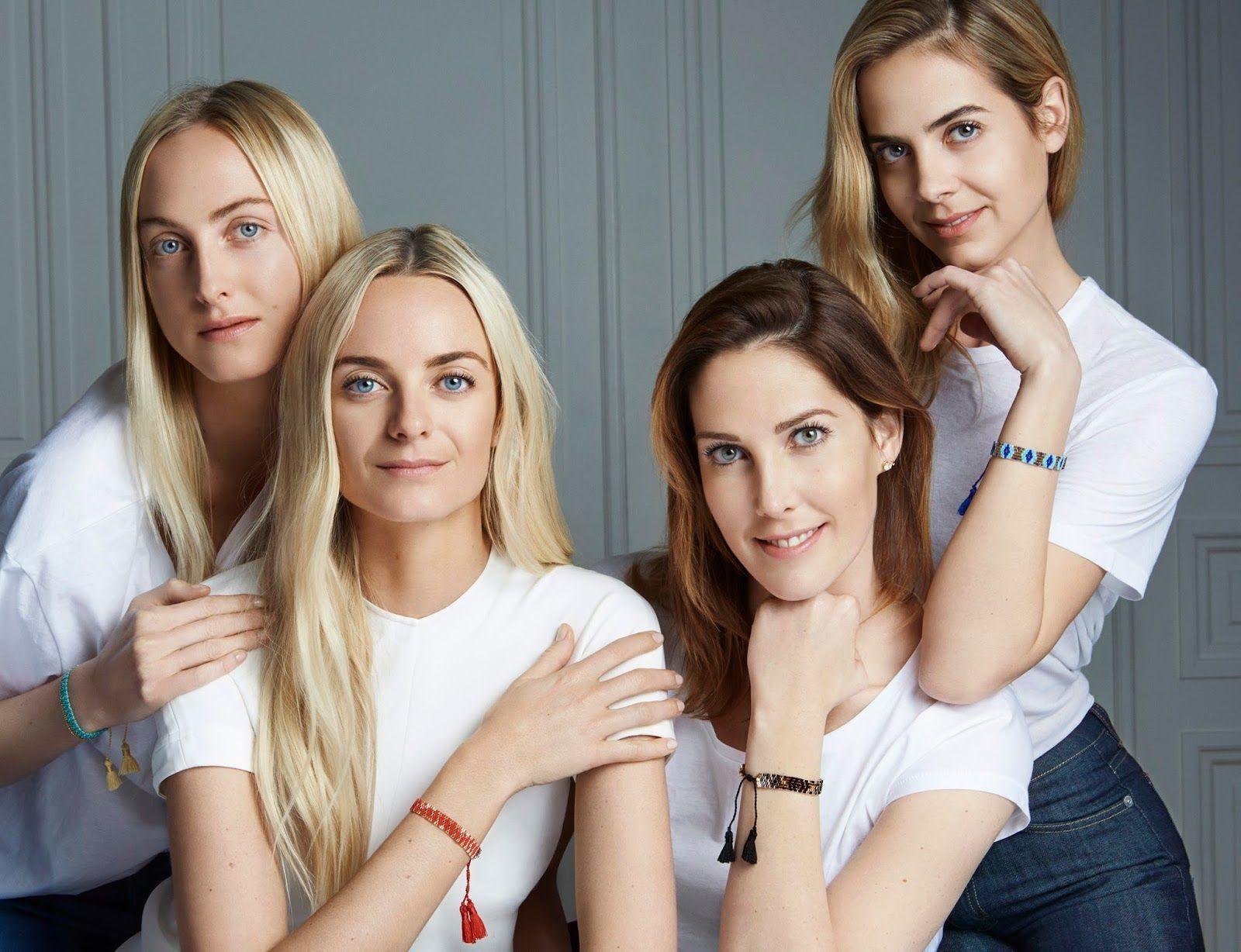 las cuatro nietas de Jacques Courtin-Clarins