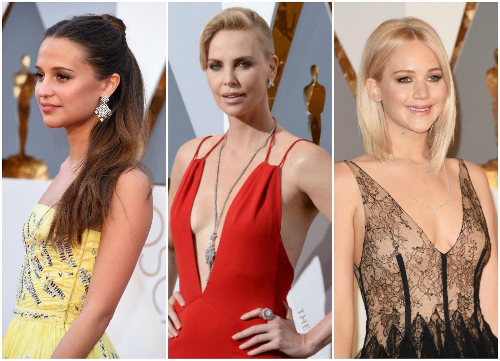 Alicia Vikander, Charlize Theron y Jennifer Lawrence, Oscars 2016