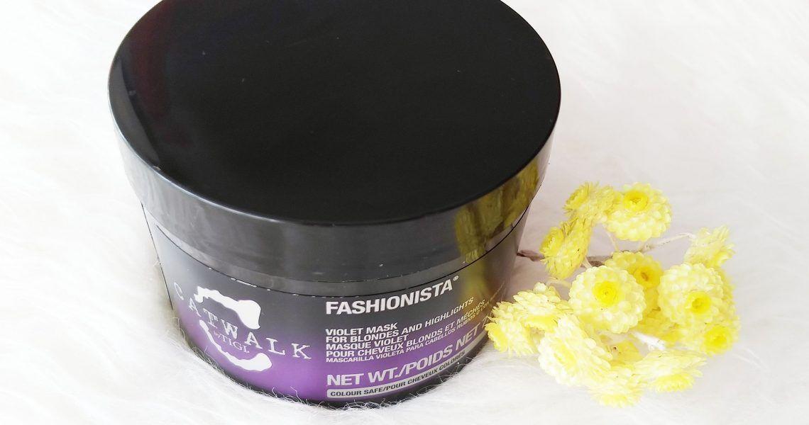 Probando la mascarilla violeta TIGI Catwalk Fashionista