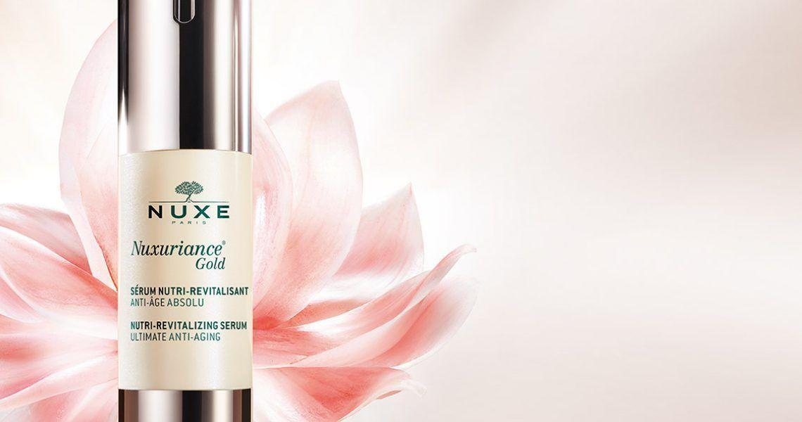 Nuxuriance Gold de NUXE, el nuevo tratamiento antiedad global que combate los signos del envejecimiento
