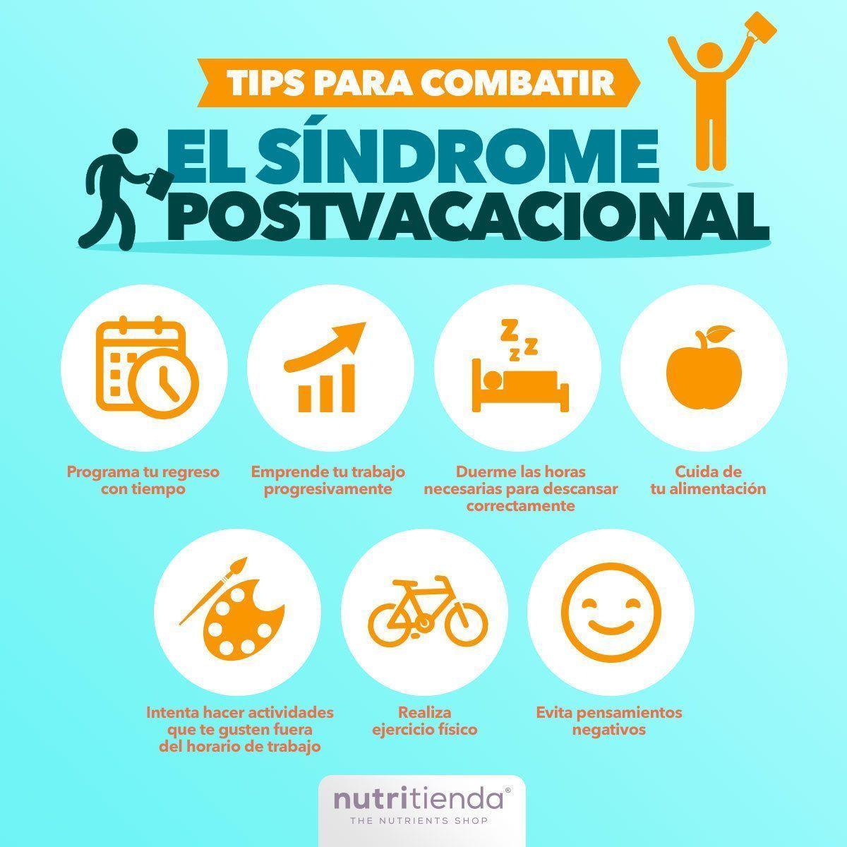 infografía tips para combatir el síndrome postvacacional