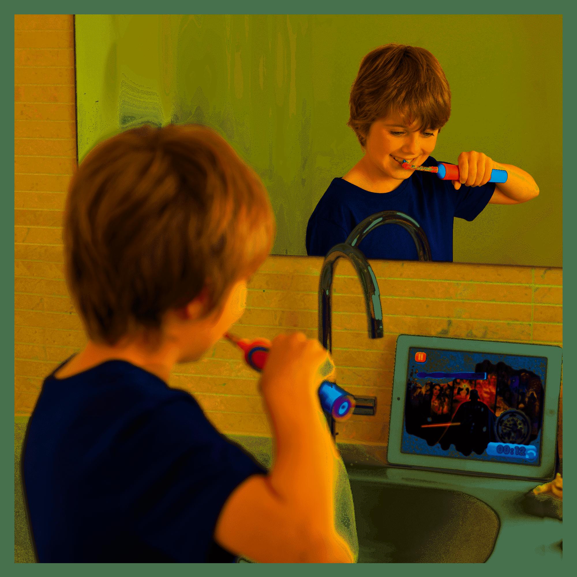 cuidar los dientes de los niños oral-b junior app disney magic timer