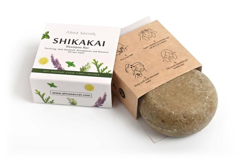 champú sólido Shikakai de Alma Secret